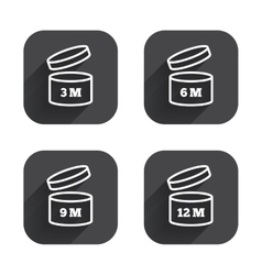 After opening use icons expiration date product vector