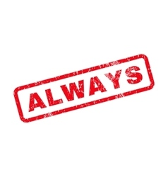Always text rubber stamp vector