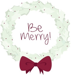 Be Merry vector image
