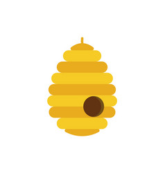 bee hive icon design template isolated vector image