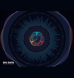 Big data graphic complex business system vector