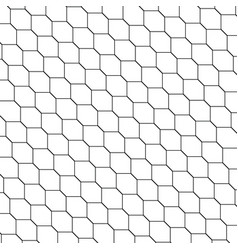 black and white honeycomb graphic tiles pattern vector image vector image
