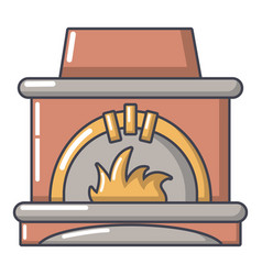 Blast furnace icon cartoon style vector