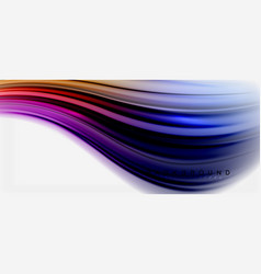 Blurred fluid colors background abstract waves vector