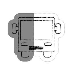 Bus vehicle icon vector