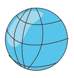Cartoon earth globe diagram icon vector