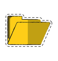 Cartoon folder file document archive icon vector