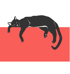 Cat napping vector
