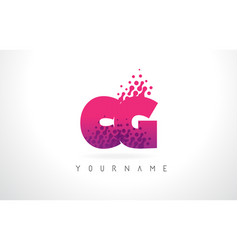 Cg c g letter logo with pink purple color and vector