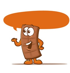 chocolate bar cartoon vector image