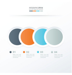 circle overlap infographic orange blue gray vector image