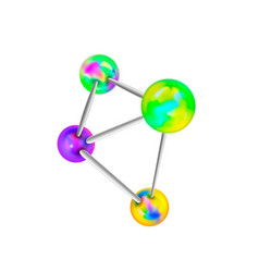 complicated chemical structure with atomic bonds vector image
