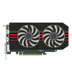 Computers video card vector