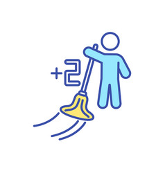 Earning points housework rgb color icon vector