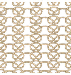 Endless nautical rope pattern hand drawn vector