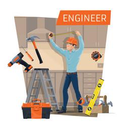 Engineer profession construction industry vector