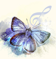 Fashion butterfly background vector