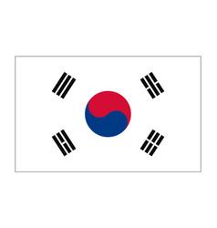 Flag of republic korea vector
