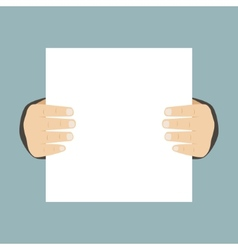 Flat Design Business Hands Holding Paper for vector image