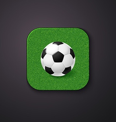 Football soccer icon stylized like mobile app vector image
