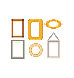 Frame gallery set collection rectangular vector
