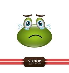 Frog emoticon design vector