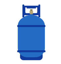 Gas cylinder flat on white vector