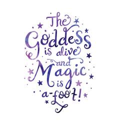 Goddess alive typography vector