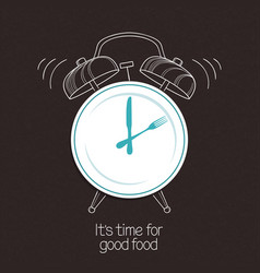 good food time vector image