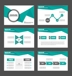 Green polygon presentation template Infographic vector