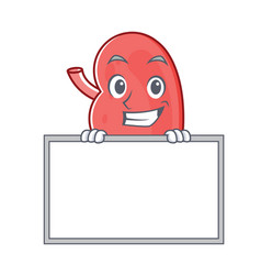Grinning with board kidney character cartoon style vector