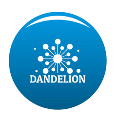 Growing dandelion logo icon blue vector