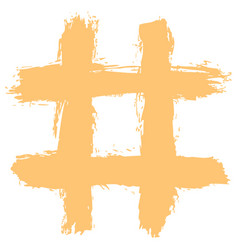 Hashtag or number sign or tic-tac-toe grid vector