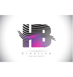 Hb h b zebra texture letter logo design vector