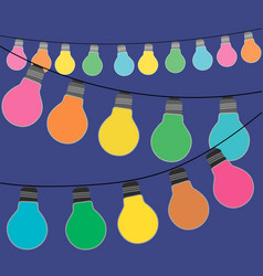 holidqays lights festive decorations set vector image