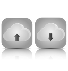 Icons Cloud Service vector