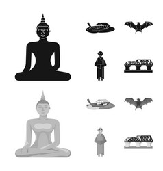 isolated object journey and exotic logo set of vector image