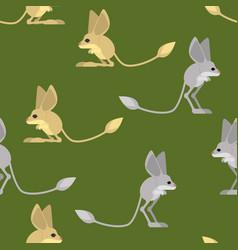 jerboa pattern steppe animal background wildlife vector image