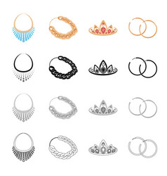 jewelery necklace gold chain precious diadem vector image