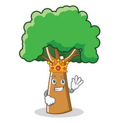 King tree character cartoon style vector
