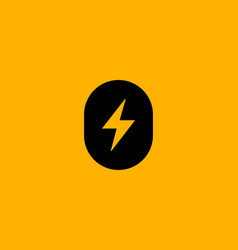 Letter o number 0 lightning logo icon design vector