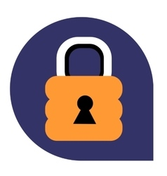 Lock or closed icon of set tricolor vector