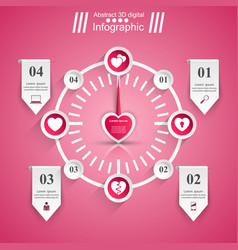 love infographic heart icon speedometer icon vector image