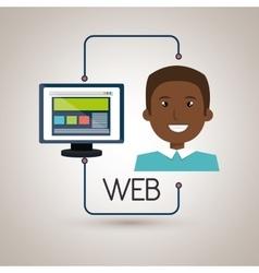 Man cartoon web page vector