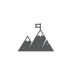 mountain icon on white background vector image
