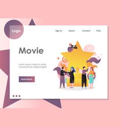 Movie website landing page design template vector