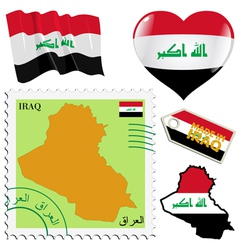 National colours of Iraq vector