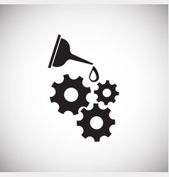 Oiler can gears on white background vector