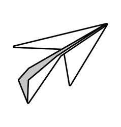 Paper plane origami modeling creative outline vector