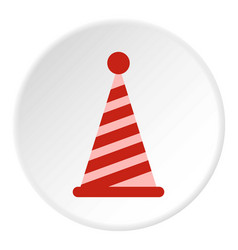 Party hat icon circle vector